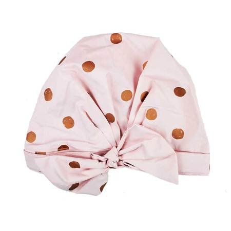Kitsch Luxury Shower Cap For Women   Waterproof, Reusable Shower Caps (Blush Dot)