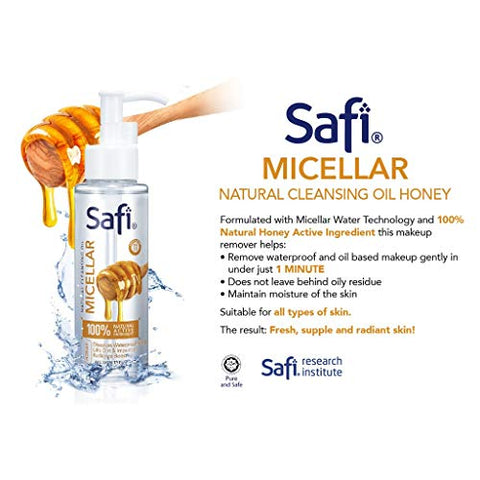 #MG SAFI Micellar Natural Cleansing Oil 100ml -Remove waterproof and oil based makeup gently in under just 1 MINUTE