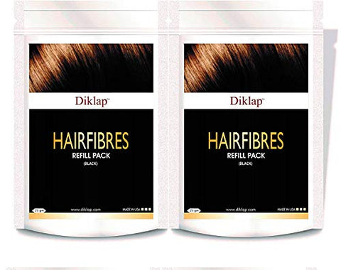 Diklap Hair Building Fiber Refill Pack Hair Concealer) Black (50g)