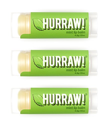 Hurraw Mint Lip Balm, 3 Pack â?? Organic, Certified Vegan, Cruelty And Gluten Free. Non Gmo, 100% Na