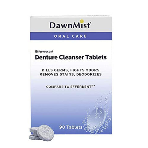 Dukal Dawn Mist Denture Cleanser Tablet, 40 ct. (40 Boxes of 24) (Pack of 960)