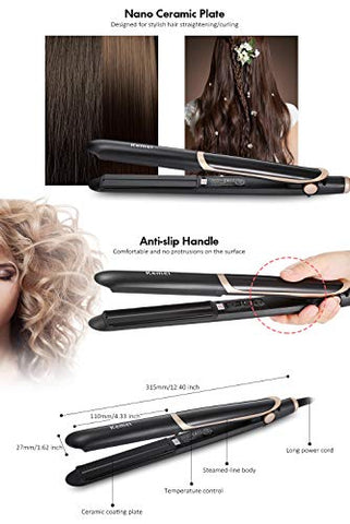 Hair Straightener Infrared Hair Care Disinfection Ceramic Thermostatic Coating Styling Tool