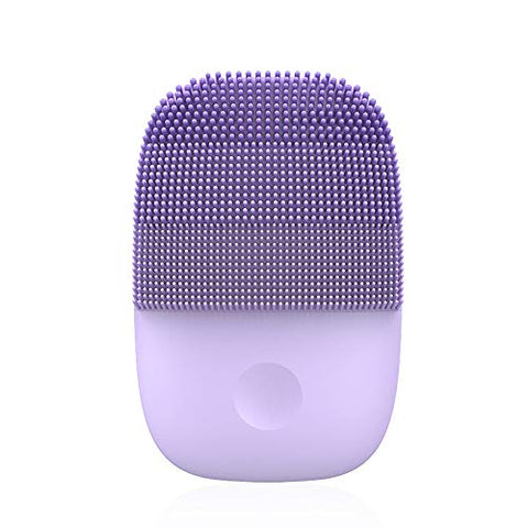 Facial Cleaning brush Upgrade Version,IPX7 Waterproof 5 Modes,90 seconds cleaning time.15Slope brush head?Electric Sonic Face Brush Deep Cleaning Rechargeable (Purple)
