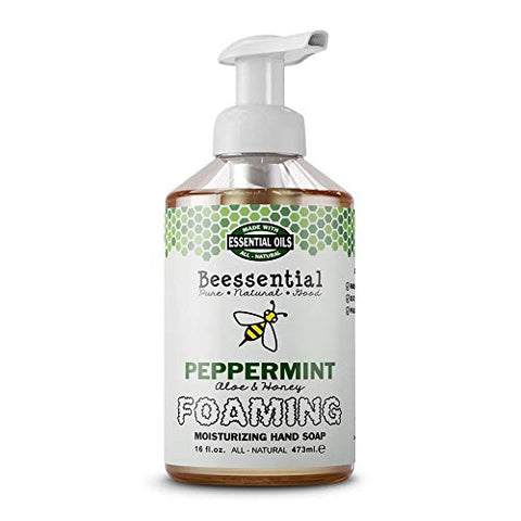 Beessential Refreshing Foaming Hand Soap, Peppermint, 16 Ounce