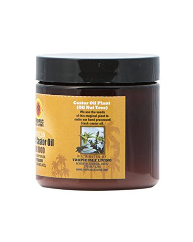 Tropic Isle Living Jamaican Black Castor Oil Hair Food 4 oz (Pack of 2)
