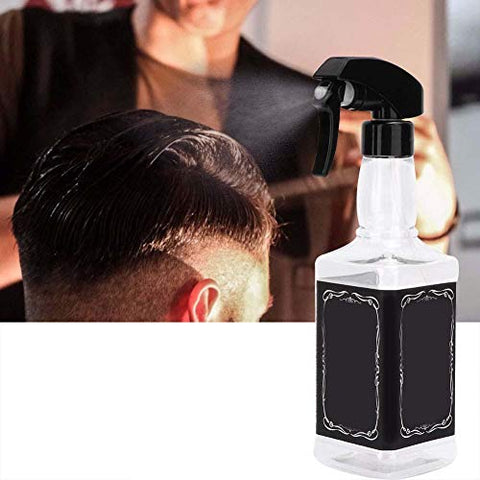 500ml Water Spray Bottle, Vintage Hairdressing Refillable Barber Empty Spray Bottle Water Sprayer - Multi-Purpose for Professional Hairdressing Garden Watering Use(Transparent)