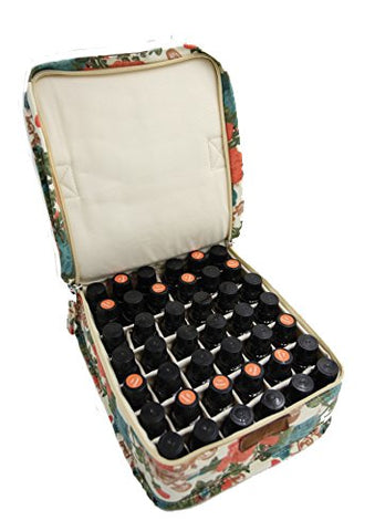 Always Nature Essential Oil Carrying Case - hold up to 42 Bottles of 15ml oils! (Rose Garden, L)