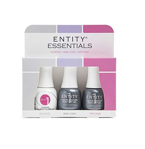 Entity One Color Couture Top Coat + Base Coat + Nu Bond Primer .5oz /15mL