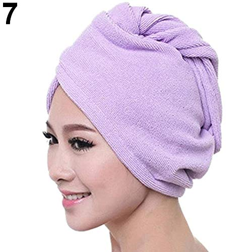 PIP & CO Luxury Super Absorbent Microfiber Hair Turban Wrap Quick Dry Hair Towel (Lavender)