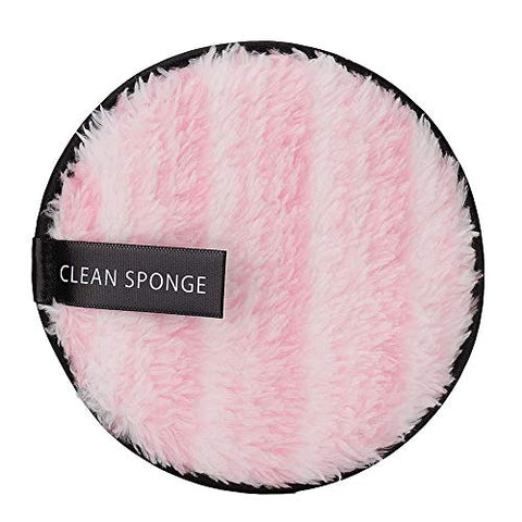 Makeup Remover Cushion Double-sided Microfiber Facial Makeup Remover Puff Reusable Face Cleansing Towel Cloth Pad(??)