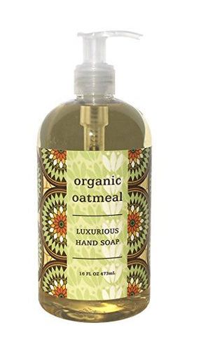 Greenwich Bay ORGANIC OATMEAL Hand Soap - Enriched with Shea Butter, Cocoa Butter, Organic Oatmeal Extract , No PARABENS 16 Oz.