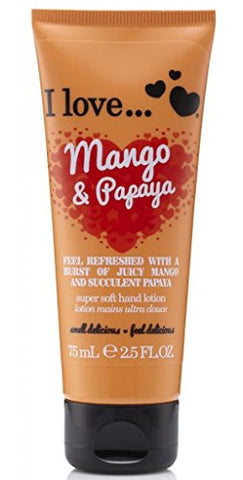I Love... Mango & Papaya Super Soft Hand Lotion 75ml