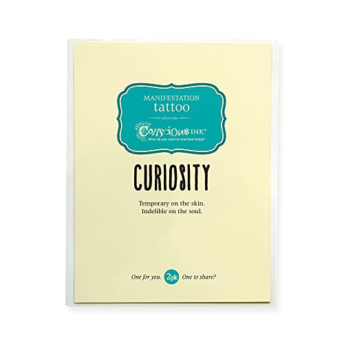 "Conscious Ink Manifestation Tattoo 2 Pack""Curiosity"" (Set Of 2)"