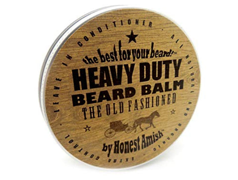 Honest Amish Heavy Duty Beard Balm -New Large 4 Ounce Twist Tin