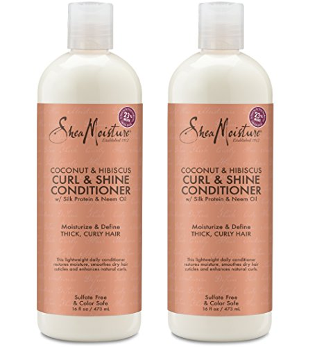 Shea Moisture Coconut & Hibiscus Curl & Shine Conditioner | 16 fl. oz. (2 Pack)