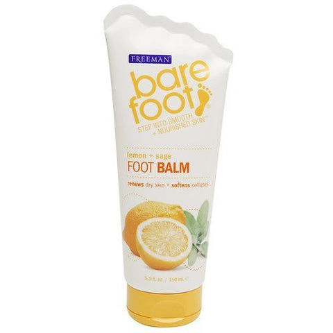 Freeman Bare Foot Revitalizing Foot Balm, Lemon and Sage, 5.3 Ounce