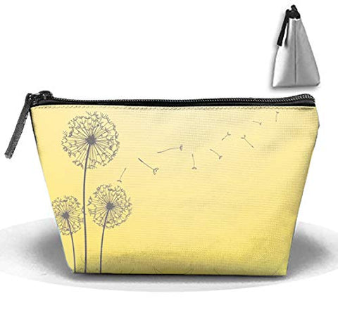 jiajufushi Dandelion Closeup Travel Cosmetic Bags Clutch Pouch Cosmetic Toiletries Organizer Bags women