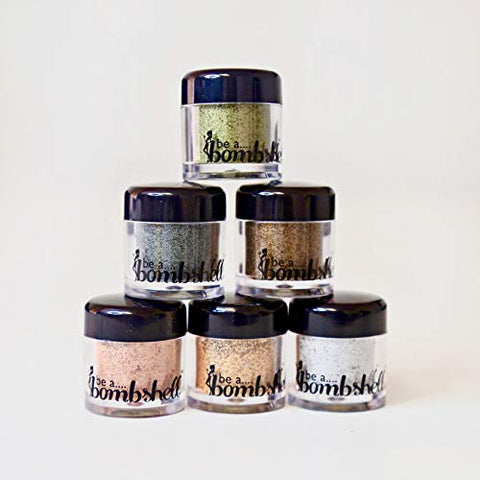 Be A Bombshell Metallic Loose Pigment Set of 6