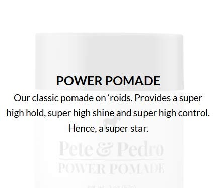 Pete and Pedro POWER Pomade - Best Hair Styling Pomade for Men