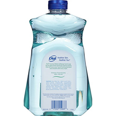 Dial Liquid Hand Soap Refill, Coconut Mango, 52 Fl Oz (Pack of 1)