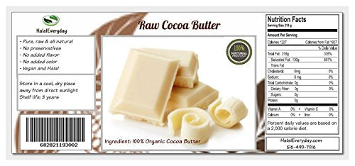 Cocoa (Cacao Butter) Butter, Pure, Raw, Unprocessed. Incredible Quality And Scent. Use For Lotion, C
