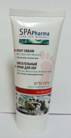 ISRAEL 100ml / 3.38oz SPA PHARMA DEAD SEA MINERALS FOOT CREAM