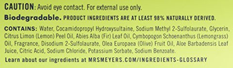 Mrs. Meyers Liquid Hand Soap Lemon Verbena, 12.5 oz (Pack of 2)