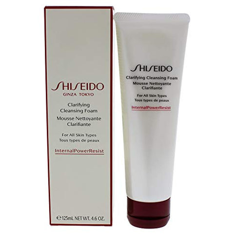Shiseido Clarifying Cleansing Foam By for Unisex - 4.6 Oz Cleanser, 4.6 Oz