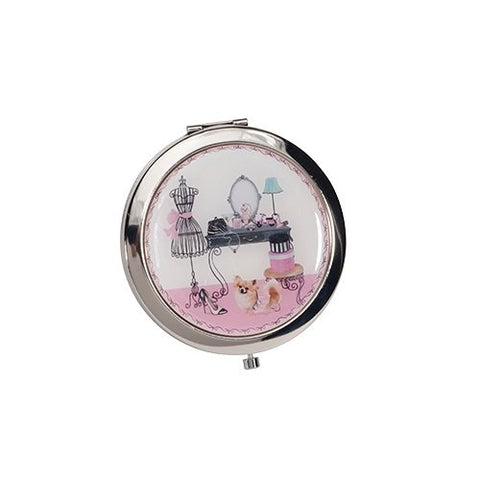Harry D Koenig Compact Double Mirror Motif, Vanity