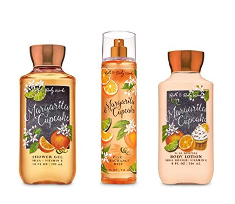 Bath and Body Works - Margarita Cupcake - Daily Trio - Shower Gel, Fine Fragrance Mist & Super Smooth Body Lotion- New 2020