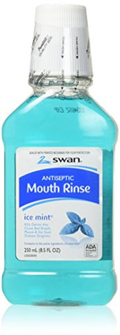 Swan Antiseptic Mouth Rinse, Ice Mint 8.5 Oz