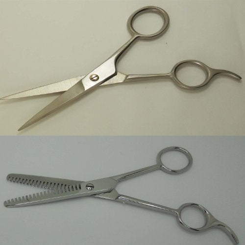 "5"" Hair Cutting Scissors/6.5"" Professional Barber Thinning Shears/Professional Barber Professional Hair Styling Barber Scissors & High Quality Japanese Stainless Steel"