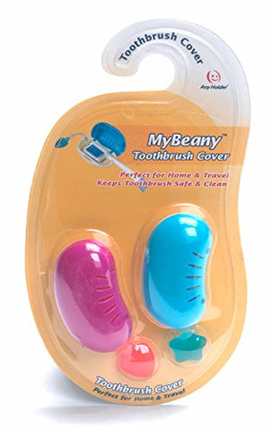 Smiley MB2 Mybeany Toothbrush Cover - 2 Piece Set Assorted Colors