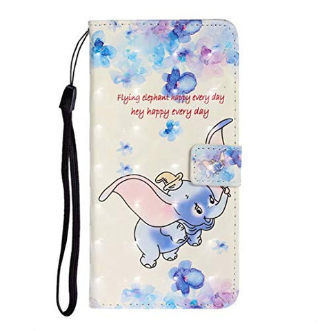 iPhone 11 Pro Case, Shockproof PU Leather Flip Notebook Wallet Case with Magnetic Closure Kickstand Card Holder ID Slots Slim Fit Soft TPU Bumper Protective Cover for iPhone 11 Pro Dumbo