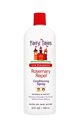 Fairy Tales Rosemary Repel Daily Kid Conditioning Spray Refill For Lice Prevention, 32 Fl Oz (Pack O
