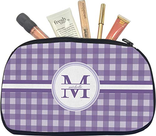 Gingham Print Makeup/Cosmetic Bag - Small (Personalized)