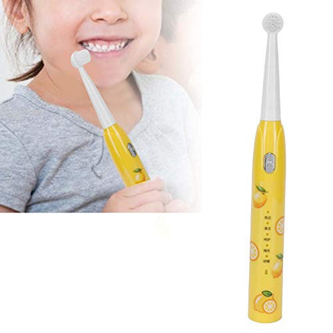 Children Teeth Brush, Reminder Tooth Teeth Electric Toothbrush Memory Lovely for Home Travel for Boys and Girls(Lemon, Pisa Leaning Tower Type)
