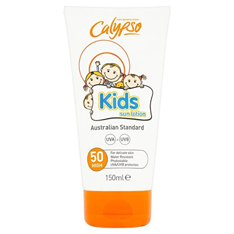 PACK OF 3 - Calypso Kids Sun Lotion Spf50 (150ML)