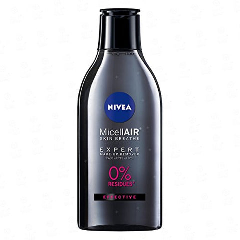 NIVEA MicellAIR Expert make-up cleansing water for face, eyes and lips which removes long-lasting make-up 400ml / 13.5 oz