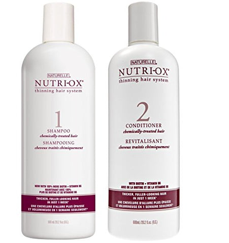 Nutri-Ox Shampoo & Conditioner Set for Chemically Treated Thin Hair (20 Ounce)