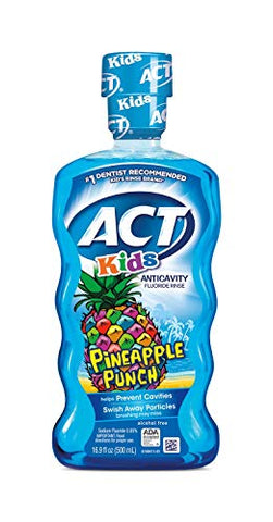 ACT Kids Anticavity Fluoride Rinse, Pineapple Punch, 16.9 Ounce (Pack of 1)