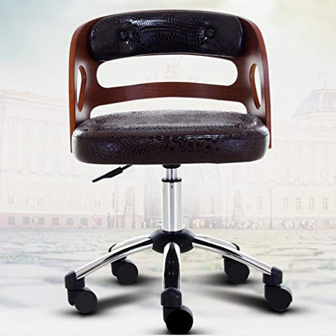 JIAHE115 Jialemu Computer Chair-HJCA036118 American Retro Home Lifting Backrest Swivel Chair 504478cm (Color : Brown)