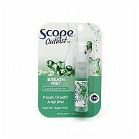 Scope Outlast Breath Mist, Long Lasting Mint, .24 fl oz - 2pc