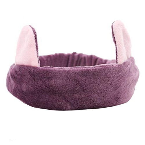 Girls Cute Makeup Face Washing Headband Lady Adorable Hairband Hair Accessories, E