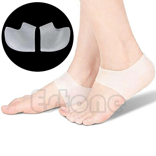 1pair Comfortable Foot Heel Skin Moisturizing Silicone Cracked Socks Protector
