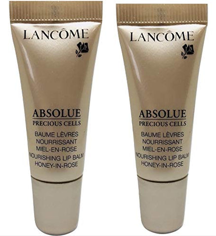 Lancome Absolue Precious Cells Nourishing Lip Balm, 0.17 OZ/5ml each(pack 2) unbox