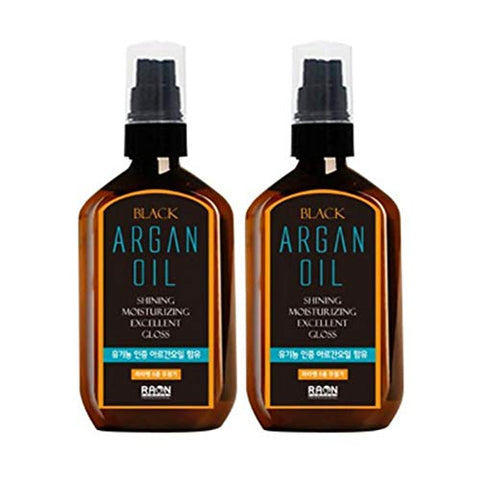 Raon Black Renewing + Argan Hair Oil - 3.38oz 2 Pack