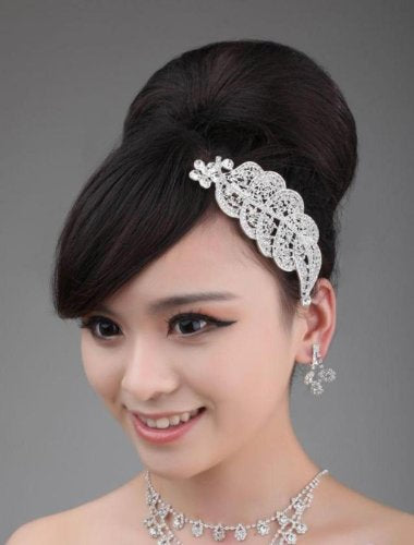 Exquisite Selebrity Wedding Bridal Rhinestone Head Dress