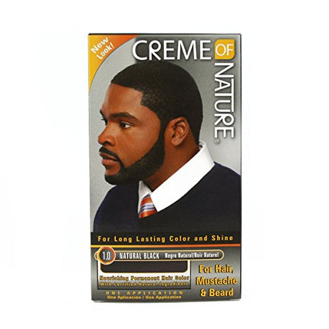 Creme of Nature Conditioning Creme Gel Hair Color for Men: 1.0 Natural Black