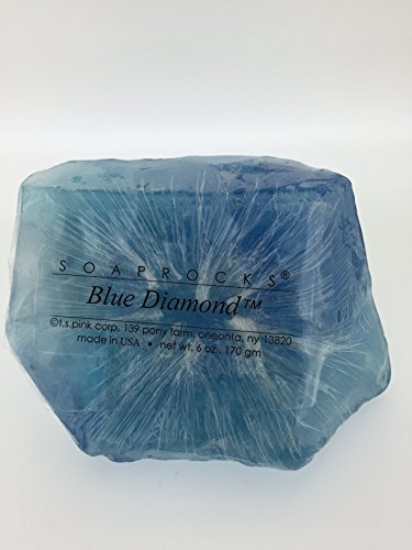 TS Pink Blue Diamond SoapRock - Soap that looks like a Rock ~ 6 oz. Gem Rocks Birthstone